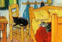 Chats et Amis dans L'Art / by Lucy Newberry
