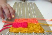 Tkaní s malými dětmi / Weaving for children