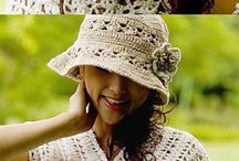 Crochet hats, headbands, scarves & tops,