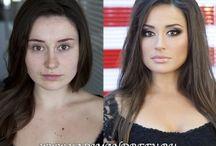 Make up / Make up-vorher und nachher