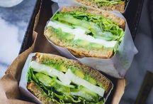 Burger, sandwich, bagel...