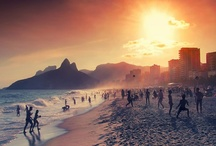 ☀ Rio de Janeiro ☀ Blue & Green Coast / You walk off the plane in Rio, and your blood temperature goes up. The feel of the wind on your face, the water on your skin, the taste of the food, the music, the sexuality; Brazilians are very comfortable in their sexuality :)