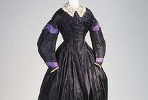 mid-19th Century Mourning Dress