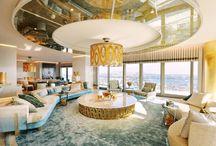 Home Decor / White Gold Black Decoration  Home Design