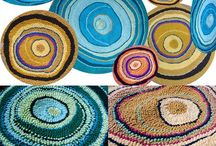 Rag rugs / Other people's wonderful rag rug creations and images/paintings for inspiration