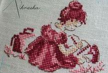 haft krzyżykowy- wzory