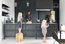 Kjøkken og spisested / kjøkken, sted for matlaging og spising
