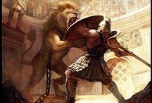 Entourage lions