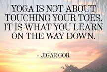 Yoga / Ontdekken dat ontspannen en loslaten verder komen is... en dat ik zelf mijn grootste tegenstander ben! Weerstand lijkt vooral mentaal te zijn. En je lijf vertelt je wie je bent. Yoga is fijn, heel ontspannend maar je wordt er ook sterk en lenig van en het is confronterend! Zacht en hard tegelijk, zoals het leven. Geen sport voor watjes ;-)  Namaste!