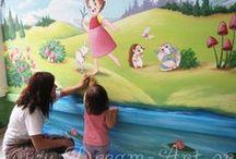 Dream-Art.gr Παιδικά δωμάτια / Dream-Art Ζωγραφική στον τοίχο παιδικών δωματίων