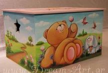 Dream-Art.gr Κουτιά Βάπτισης, Έπιπλα / Ζωγραφική σε ξύλινα κουτιά βάπτισης, έπιπλα με όποιο θέμα εσείς επιθυμείτε