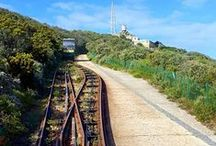 Funicular / The Flying Dutchman Funicular, also known as the Cape Point Funicular, is a funicular railway located at Cape Point. It is believed to be the only commercial funicular of its type in Africa, and takes its name from the local legend of the Flying Dutchman ghost ship.http://capepoint.co.za/flying-dutchman-funicular/