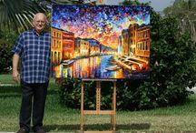 LEONID AFREMOV / He is a modern impressionist painter, born in Vitebsk (Belarus, former USSR) on 12 July 1955