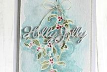 Cards - Christmas - Mistletoe & Holly