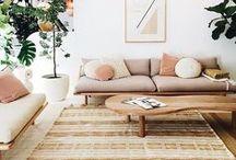 simple natural interiors / boho, rustic, scandi, simple, natural , interior desing, wood, natural fibres, plants