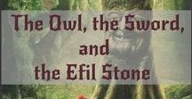 The Owl, The Sword, and The Efil Stone / Bk 1 - The Chronicles of Eldershire - Suppose a woman, sixty-five years, enters a magical portal that transports her back to when she was sixteen, yet she retains all of her knowledge and experience of her life. What if she encounters evil forces through the use of mysticism, magic, and numerology that forces her to make choices that change her life forever in her home world, and could cause harm to those she's come to love in the new world, and alter her future?