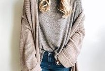COMFY COZY OUTFITS / Comfy big sweater outfit ideas