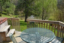 Mike's Place / Stroll out to the large deck to enjoy the view of the mountain stream, pond, fountain, and waterfall below or relax in the hot tub. Two bedrooms and two baths provide plenty of space to accommodate two couples or a family with children. It is located in the heart of Willow Winds, next to the indoor workout gym and near the office and game porch.