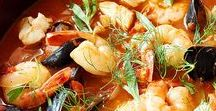 Seafood Soups & Stews / Comforting soups filled with seafood, fish, shellfish that hit the spot!