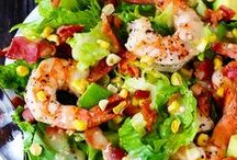 Healthy & Tasty Salads: Seafood / Delicious salads featuring healthy seafood, fish, and shellfish.