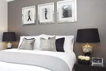 Black/White & Silver Bedroom Ideas
