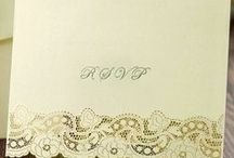 RSVP Cards / RSVP Wedding Cards.  Pre-printed on reverse for your convenience.  We also have matching invitations and stationery in these ranges.