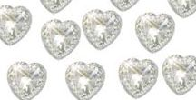 Self Adhesive Hearts, Pearls and Diamantes / We have a range of self adhesive hearts, pearls and diamantes, all in various sizes.  They will add a finishing touch to any project whether making your own wedding invitations or craft projects
