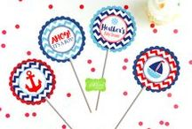 Nautical Party Inspiration / Inspiration for a nautical themed baby shower or birthday!