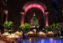 A Midnight Summer Dream at Cipriani 42nd Street  / Nothing is more romantic than celebrating the most special night under the trees in the beautiful summer nights. Our gorgeous bride, Sandra, envisioned herself walking down the aisle in the chic garden framed by topiaries and lanterns, then celebrated her dream wedding night in the magical forest surrounded by trees with hanging lanterns. We love to make our brides' dreams come true, we transformed Cipriani 42nd street to be the most romantic wedding night that Sandra had always dreamed of.