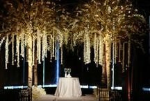 Spectacular Wedding Night Under the Trees at Mandarin Oriental / This past June, Tantawan Bloom just had an opportunity to make our sweet bride, Danielle, come true. She chose one of our favorite venues, Mandarin Oriental New York, as the place to celebrate her most special night. Danielle always knew what she wanted in her wedding. She wanted to get married under the trees and be surrounded by nature. Tantawan Bloom has expertise in trees and we always make it look really natural and lush as Danielle wished.  Photographer: David Hechler