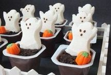 Halloween Foods / Fun food ideas to make Halloween fun for the kids. I plan to use some of these for our meals during the day (maybe my kids will actually eat if their food is fun)!