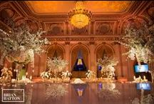 Wedding at the Plaza Hotel / Our first same sex marriage and also for the Plaza Hotel. We divided the ballroom into two sections, the glamorous wedding reception and the after party in the park. It's just so fabulous!