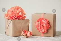Gift Wrapping Ideas / Fun ideas for traditional gift wrapping materials.