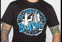 Our T-shirts / T-shirts that we print. They can be found in various local stores and online at www.mybuffaloshirt.com