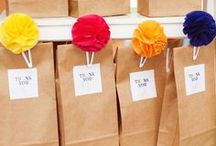 DIY Party Ideas! / Creative ways to decorate, plans and give gifts to party attendants! Using plastic and paper bags. Available at www.americanretailsupply.com