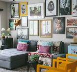Decoração / Inspirações sobre decoração com quadros