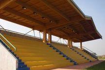 Tribuna in legno a Zeccone (PV) / Tribuna in legno a Zeccone (PV) www.marlegno.it
