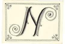 Kézzel-szívvel / Folyóírás, írott betűk dekorációnak