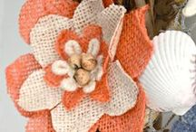 Burlap Crafts / Cut up those burlap sack and bags!