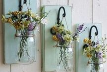 Glass Jars / What to do with old jars or you can go buy new ones...