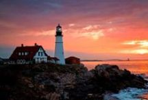 Lighthouses / Like a guardian Angel, the Lighthouse stands, sending out hope in the night. Like a faithful friend reaching out a hand bringing comfort, truth, and light. ~Author unknown / by Shannon Culbert