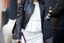Leather jacket with style
