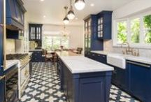 Kitchen: Colored Cabinets