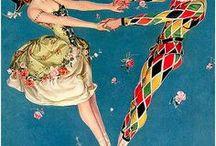 Jesters, clowns, circus, carnival, del Arte. Шуты, клоуны, цирк, карнавал, дель арте.
