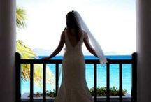 Beach Bridal Chic / From barefoot on the beach to tux & heels