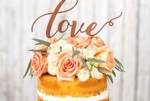 Naked & White Wedding Cakes / Cause I love naked and simply white wedding cakes in all sizes and forms! <3 plus creative wedding cake toppers of Etsy! Enjoy!