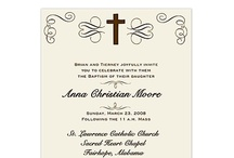Baptism & Communion Invitation Designs / by Elvia Perez