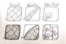 DIY rysunek.  doodle.  zentagle.