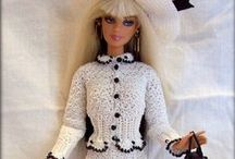 Barbie - Clothes / Selection of modern crocheted and knitted Barbie clothes.  My creation is visible at https://www.etsy.com/shop/RianasBarbieCloset / by Riina | Riana's Barbie Closet
