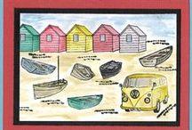 Stempelen - Coastal scene-it / Stempels van Hobby Art in Nederland verkrijgbaar bij Multihobby. Creëer je eigen landschap met deze stempelset